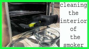 how to clean a electric smoker