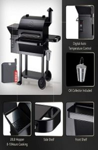 Outdoor Smoker Grill (ZPG-10002B) $ Free Cover