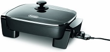 De'Longhi Electric Skillet with Tempered Glass Lid,